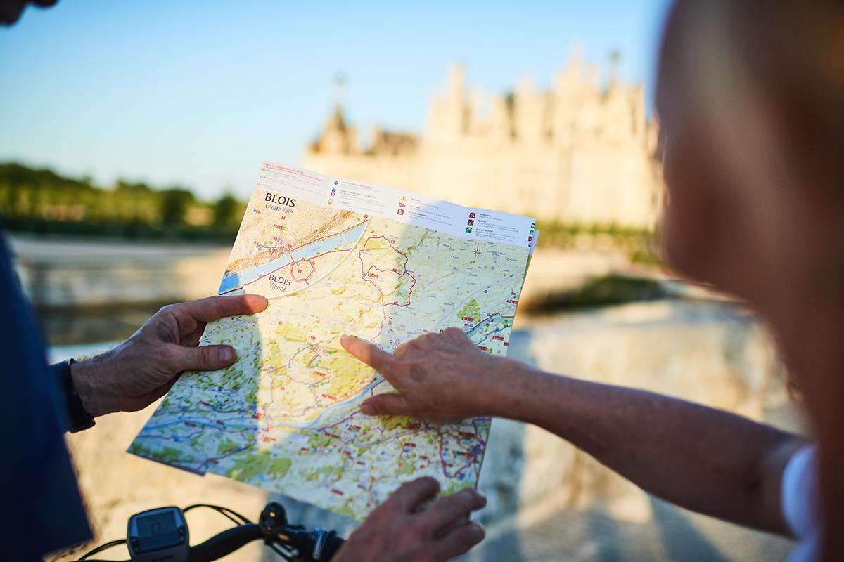 El mapa de los Castillos en bici