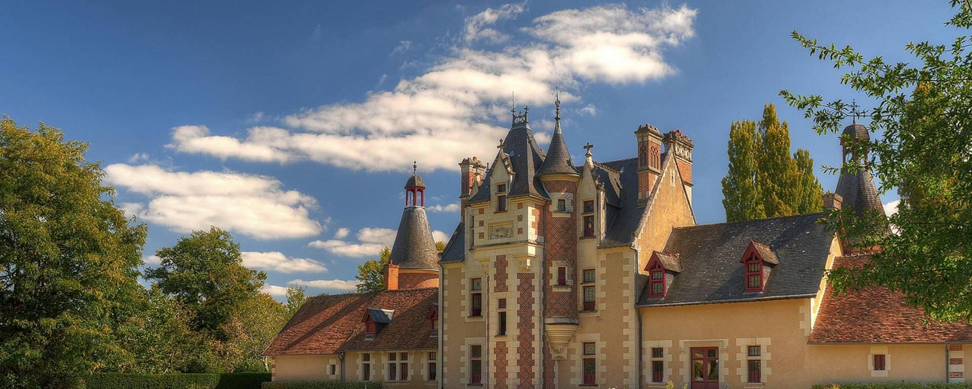 La fachada del castillo de Troussay