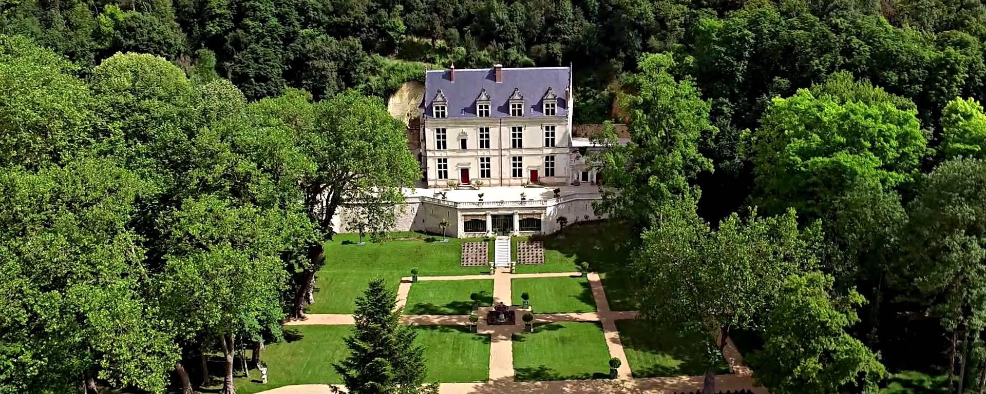 Vista aérea del castillo de Gaillard. © OTBC