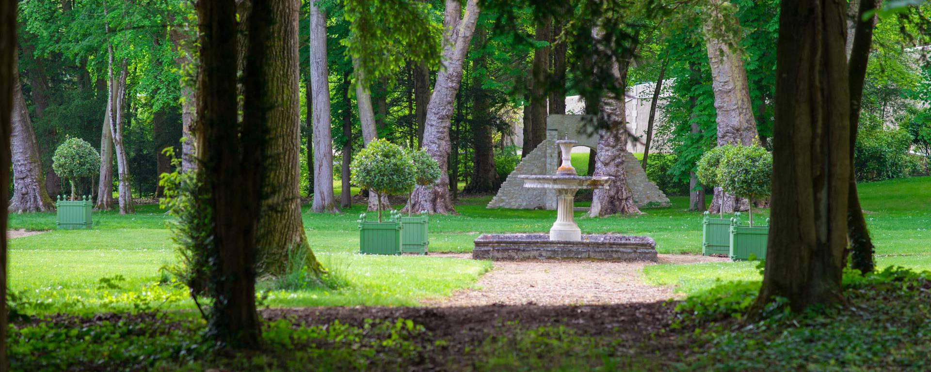 Los jardines renacentistas del Château Gaillard. © OTBC