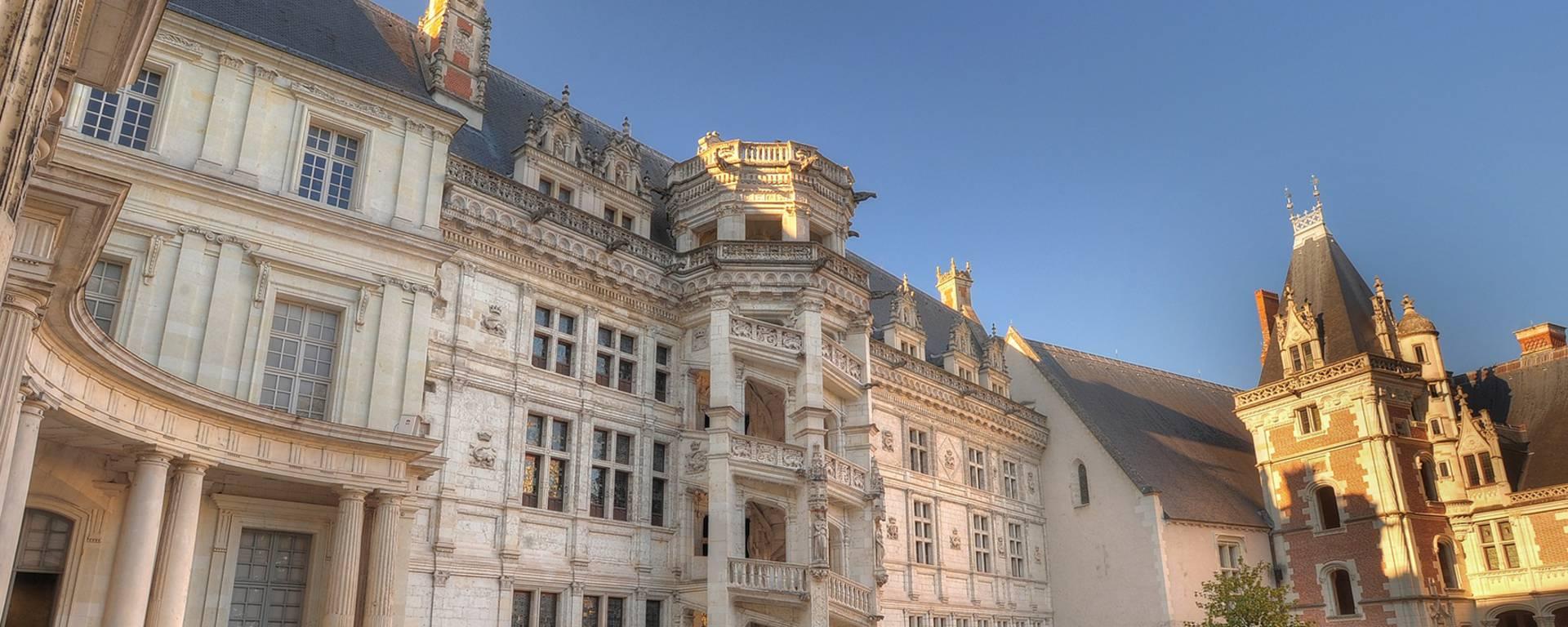 La escalera Francisco I del Château de Blois. © Leonard de Serres