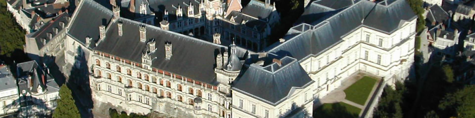 El Castillo de Blois desde el cielo. © OTBC