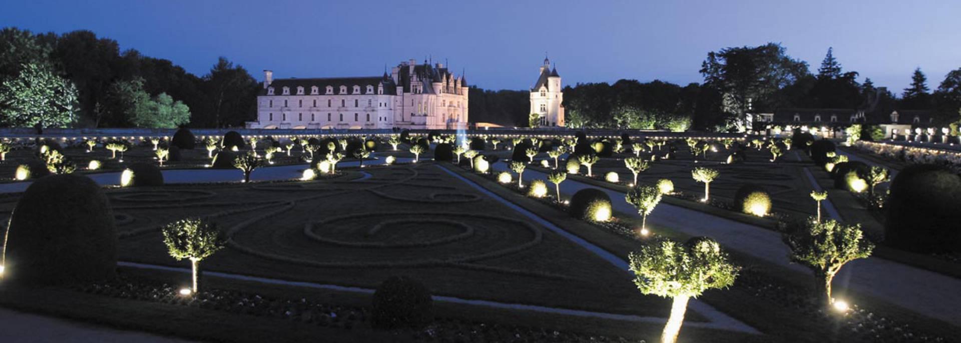 El Castillo de Chenonceau de noche © Imágenes de Marc