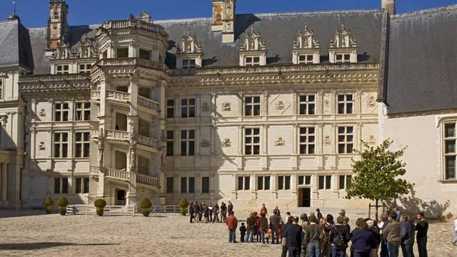 Patio interior del Castillo de Blois