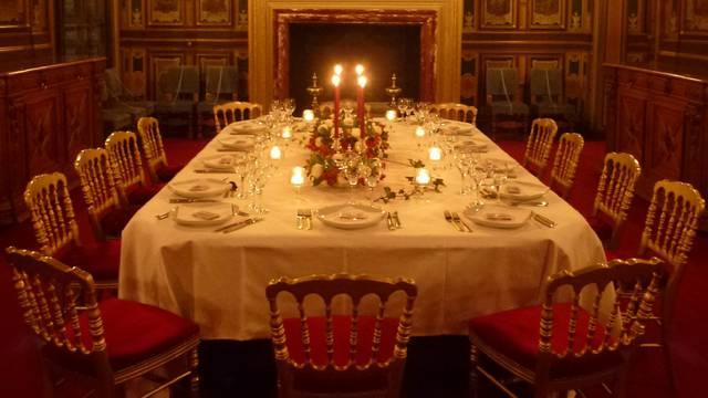 Cena de prestigio en el Castillo de Cheverny. © OTBC