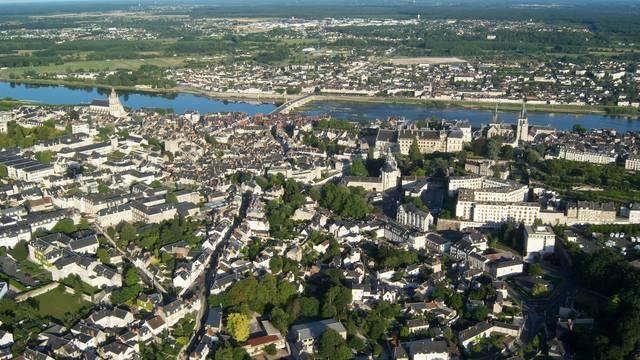 La ciudad de Blois desde el cielo © BloisChambord