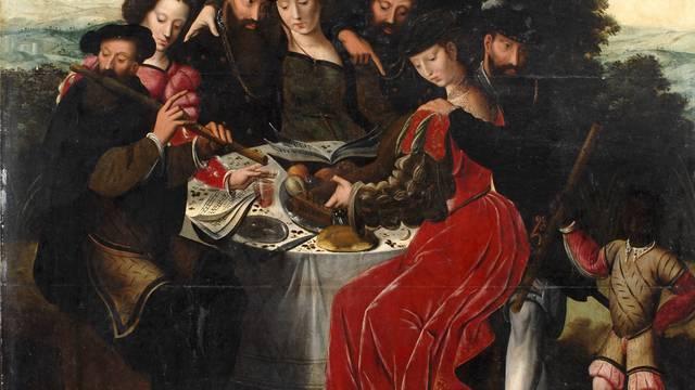 Ambrosius Benson, El concierto después de la comida, hacia 1550, óleo sobre madera. © DR