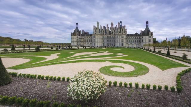 Jardines a la francesa del Castillo de Chambord