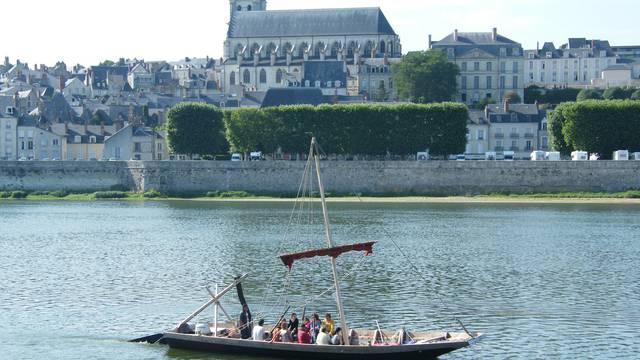 Futreau en el Loira en Blois. © OTBC