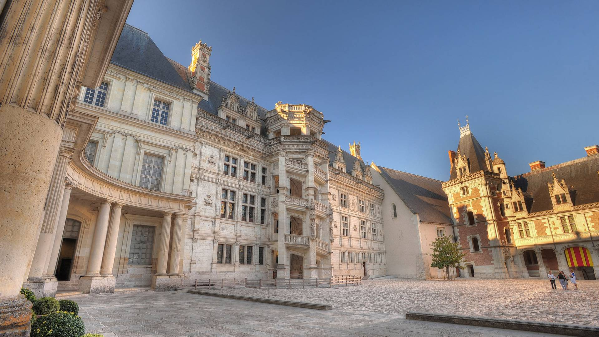 Castillo de Blois, escalera Francisco I