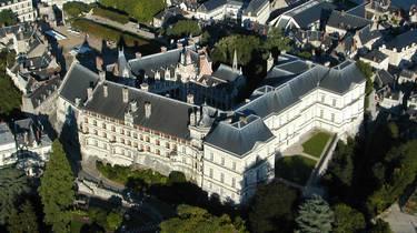Vista aérea del Castillo de Blois. © Aerocom