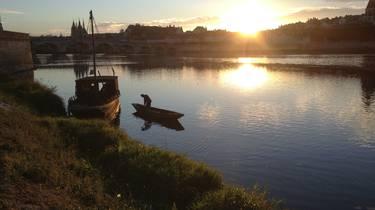 Puesta de sol en el Loira en Blois. © OTBC