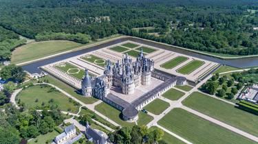 Vista aérea de los jardines del Castillo de Chambord. © Drone Contrast