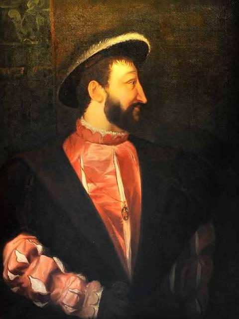 Retrato de Francisco I por Pierre Dupuis.