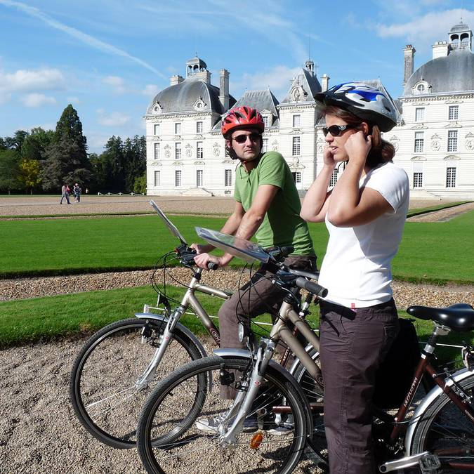 Visitar el castillo de Cheverny en bici