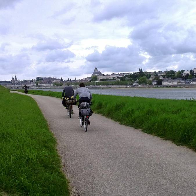 El Loira en bici en Blois