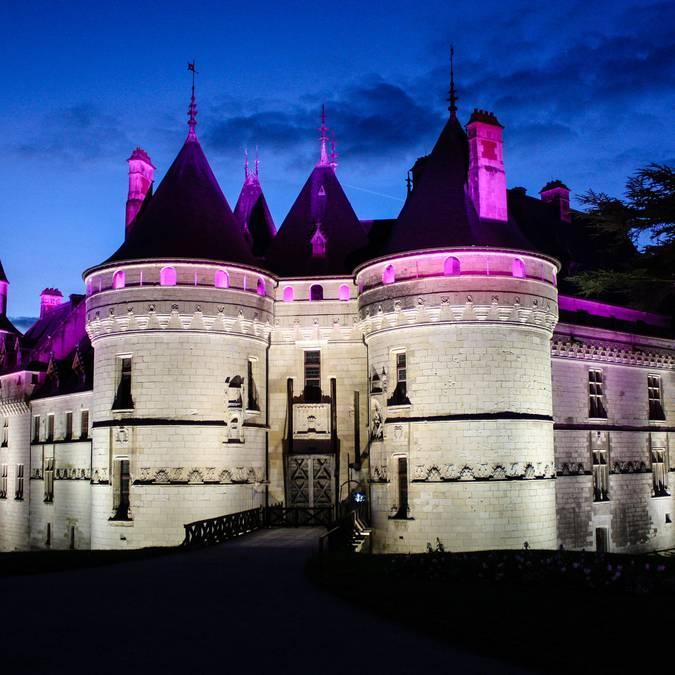 El Castillo de Chaumont de noche