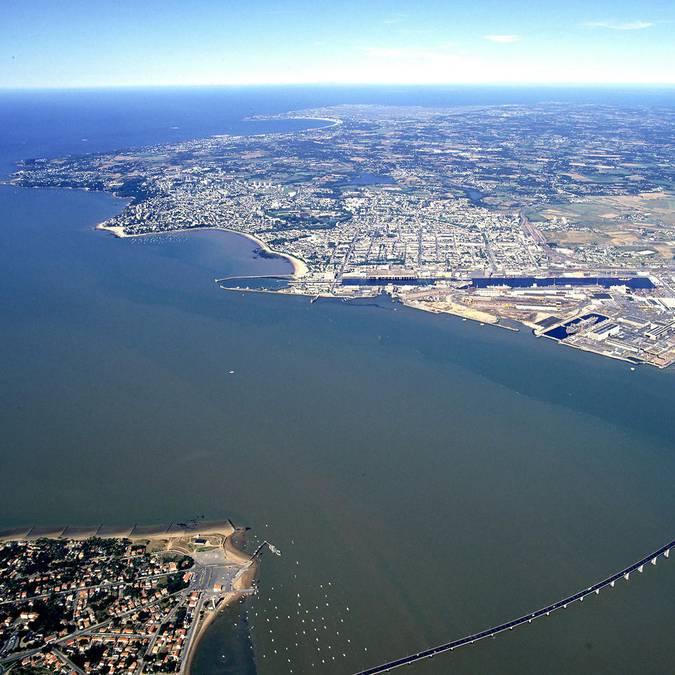 El estuario del Loira en Saint-Nazaire