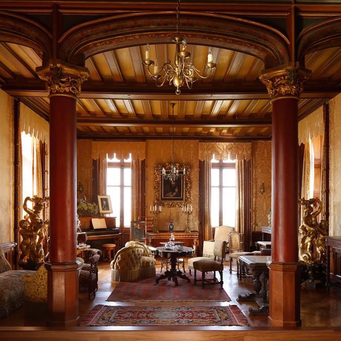 El salón del Castillo de Chaumont-sur-Loire
