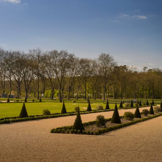 Jardines de Chambord desde los senderos