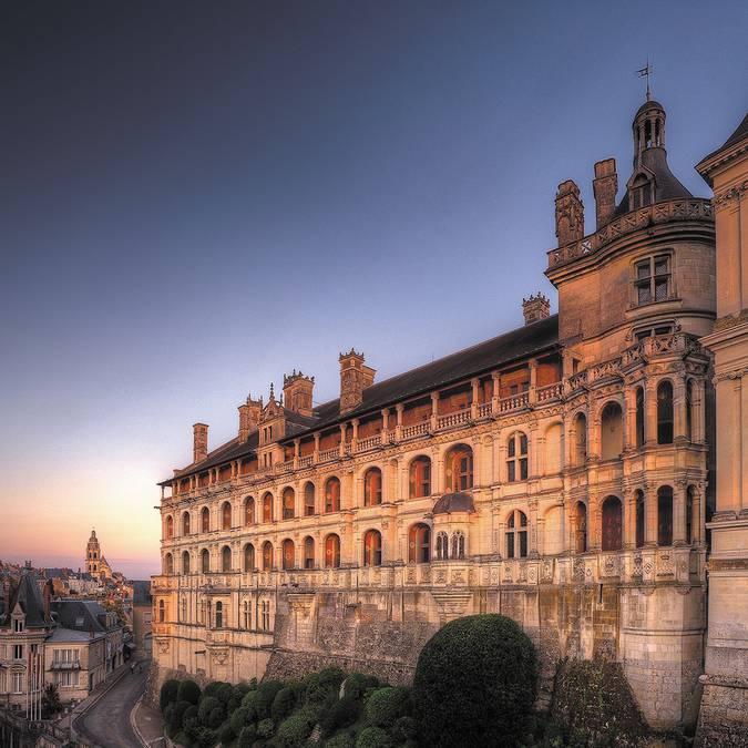 Fachada de las Loggias del Castillo Real de Blois