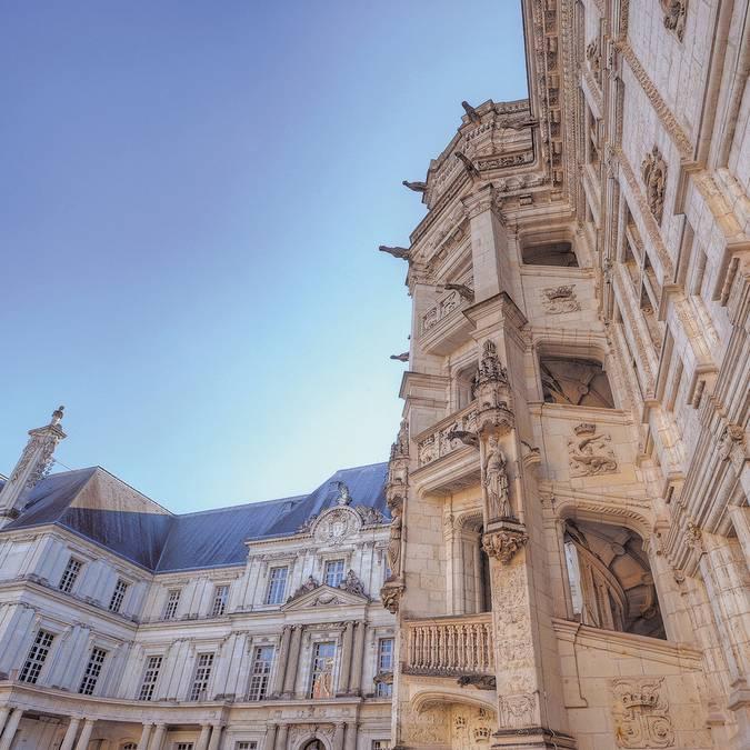 Escalera Francisco I del Castillo Real de Blois © L. de Serres
