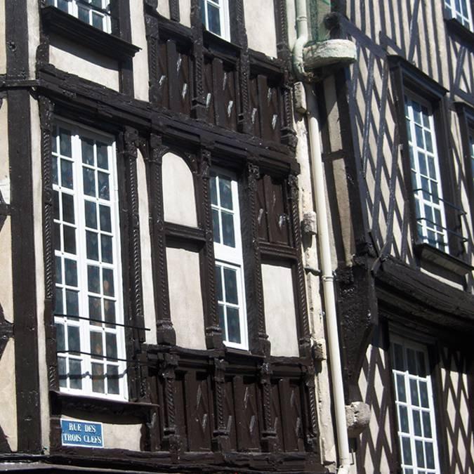 Casas con entramado de madera en Blois