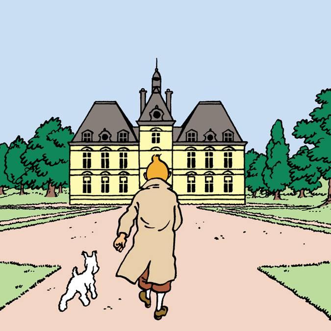Hergé se inspiró en el Castillo de Cheverny para dibujar Moulinsart. © Hergé