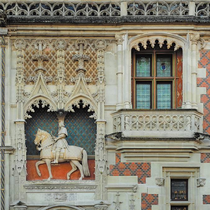 Estatua ecuestre de Luis XII en el Castillo de Blois