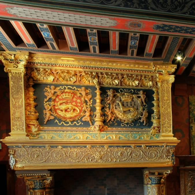Chimenea en el Castillo de Blois