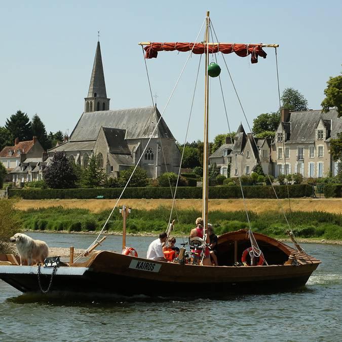 Valle del Loira. Barco tradicional