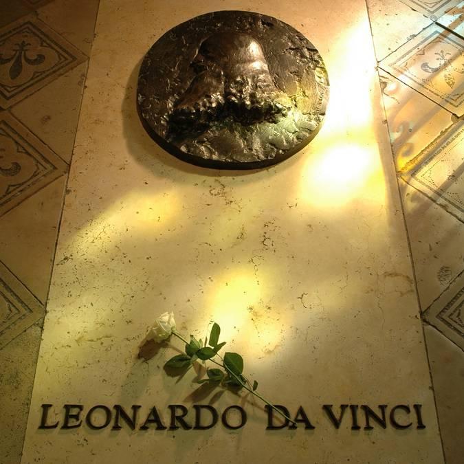 Tumba de Leonardo da Vinci en el Castillo de Amboise.