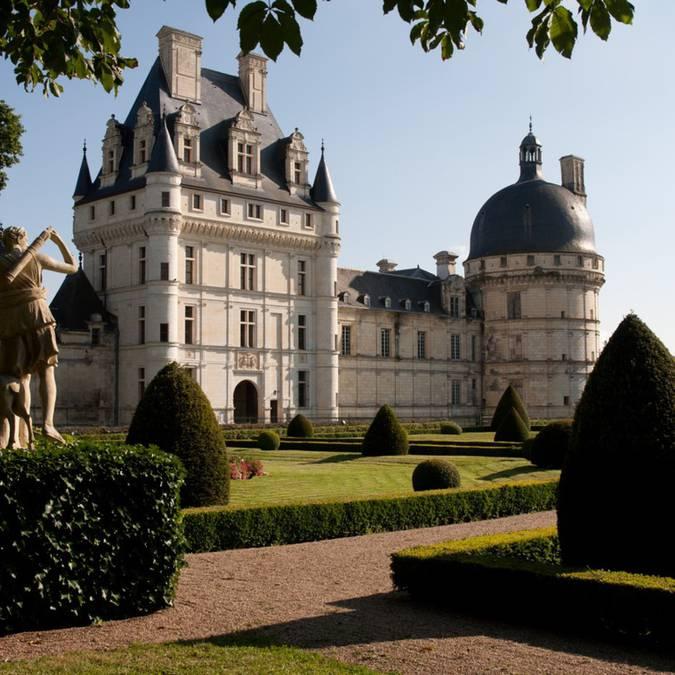 Les jardins du château de Valençay. © OTBC