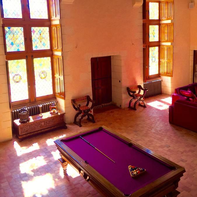 El interior renacentista del Château Gaillard. © OTBC