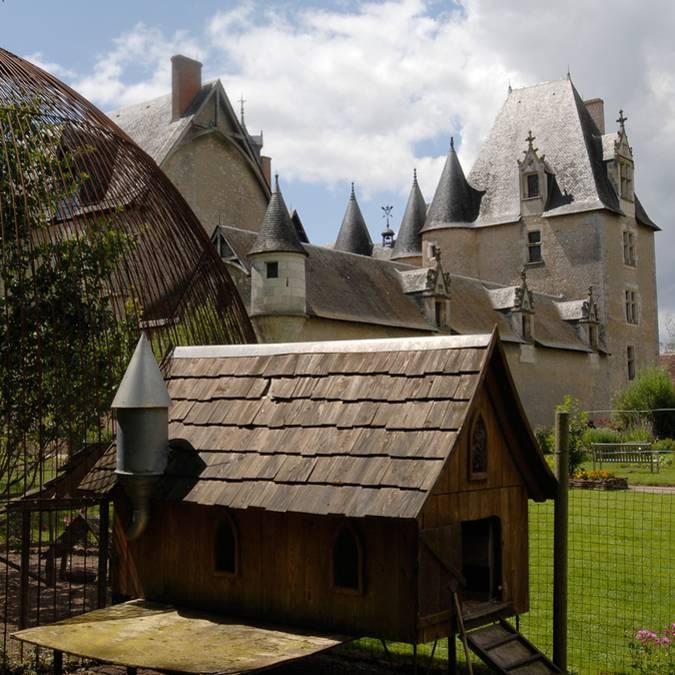 Gallinero en el castillo de Fougères-sur-Bièvre
