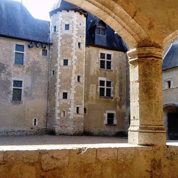 Las galerías del castillo de Fougères-sur-Bièvre