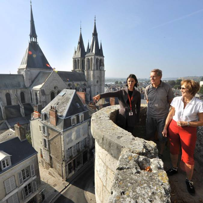 Paseos y visitas en lo alto de Blois. © OTBC
